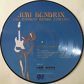 jimi hendrix bootlegs vinyls 1970 / the rainbow bridge concert / picture disc : the early show  / side 2