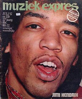 jimi hendrix magazine/muziek expres july 1967