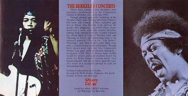 jimi hendrix bootlegs cd / the berkeley concerts