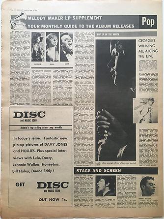 jimi hendrix newspaper/4/5/68