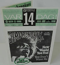 jimi hendrix memorabilia 1967/ flyer  var14dag! : october 2, 1967