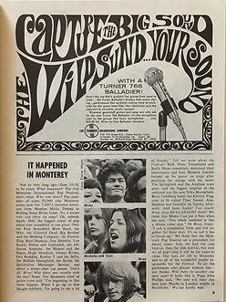 jimi hendrix collector magazine/hullabaloo october 1967 monterey pop festival