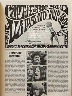 jimi hendrix collector magazine/hullabaloo october 1967 monterey pop festival