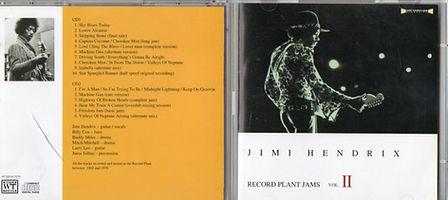 jimi hendrix bootlegs cd 1969/ jimi hendrix record plant jams vol II