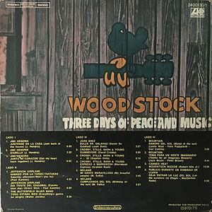 jimi hendrix vinyl lp album/woodstock two /  argentina 1972