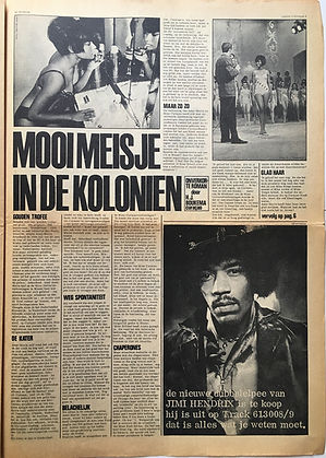 jimi hendrix newspape 1968/hit week 15/11/68 electric ladyland AD