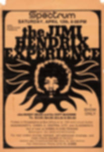 jimi hendrix memorabilia 1969/handbill