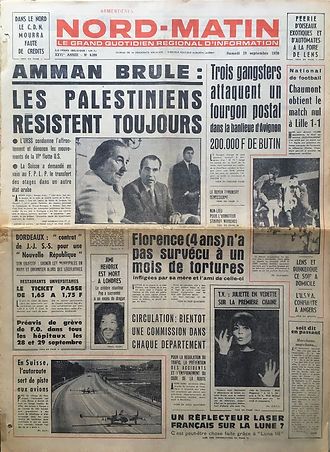 jimi hendrix newspapers 1970 / nord matin :  sept. 19, 1970
