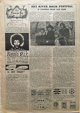 jimi hendrix newspaper/spokane natural august 30-12 september 1968