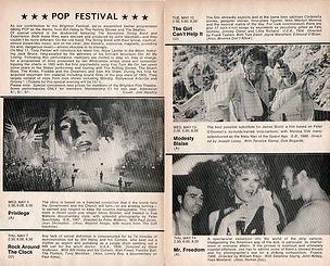 jimi hendrix memorabilia 1970 / program brighton film pop 1970