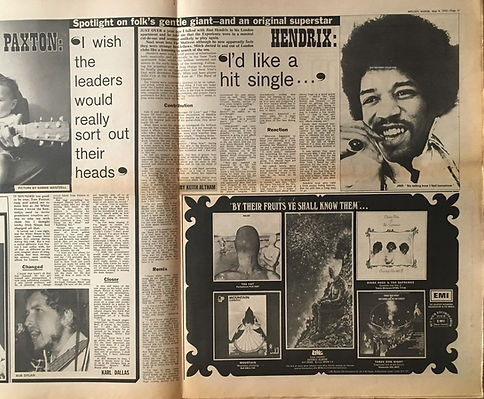 jimi hendrix newspapers 1970 / melody maker may 9, 1970