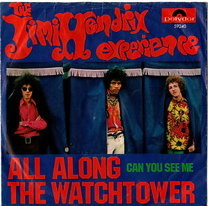 jimi hendrix rotily singles vinyls collector/all along the watchtower/can you see me  polmydor 1968