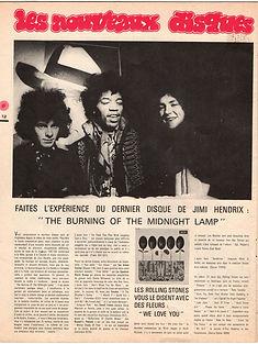 jimi hendrix collector magazine/N°3/ jimi hendrix article the burning of the midnight lamp 1967