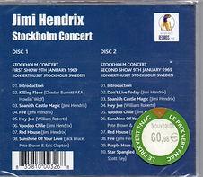 jimi hendrix bootleg cd 1969/stockholm concert 2cd purple haze record