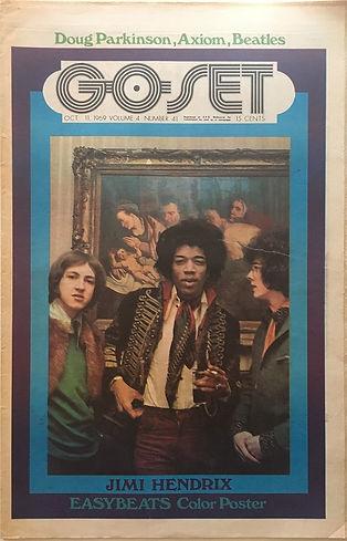 jimi hendrix newspapers 1969/go set october 11,  1969