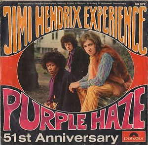 jimi hendrix single vinyl/purple haze