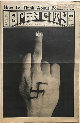 jimi hendrix newspaper/open city january 24 to 29 1968 ad concert shrine auditorium february 10 1968