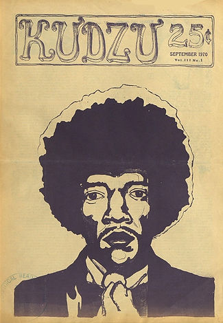 jimi hendrix newspapers 1970 / kudzu  september 1970