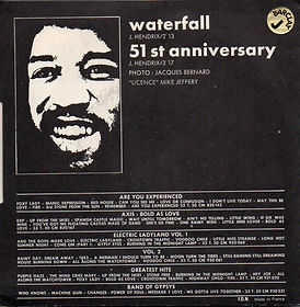 jimi hendrix vinyl single/ vol 7 waterfall/51st anniversary barclay 1971