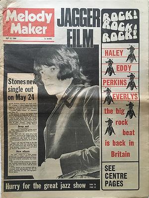 jimi hendrix newspaper/may 11 1968 melody maker ad : smash hits