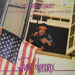 jimi hendrix bootlegs vinyls 1970 / reissue :  last american concert