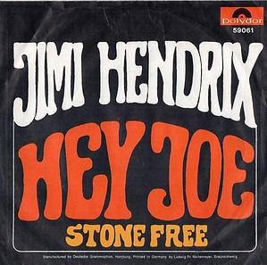 jimi hendrix collector singles 45t vinyls hey joe/stone free holland 1967