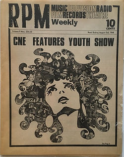 jimi hendrix newspaper/rpm : august 3rd 1968 AD concerts tour