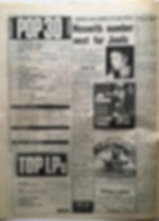 jimi hendrix newspaper 1968 / top 30 melody maker  december 14 1968