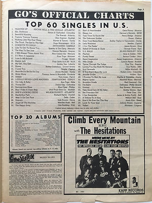 jimi hendrix newspapers/go 24 may 1968/top 20 albums: are you experienced N°12