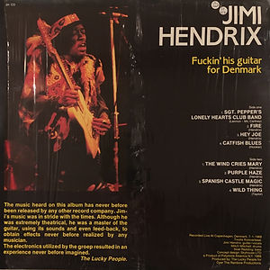 jimi hendrix collector bootlegs vinyls 33t/fuckin'his guitar for denmark 1988 the lucky people