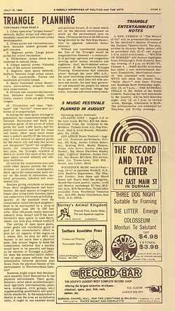 jimi hendrix newspaper 1969/ anvil the north carolin : woodsock festival