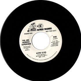 jimi hendrix collector singles vinyls/45t/gypsy eyes promo reprise records 1968 usa