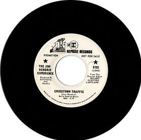 jimi hendrix collector singles vinyls 45/crosstown traffic promo  reprise records 1968 usa