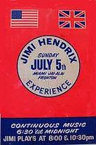 jimi hendrix memorabilia 1970/handbill 1970