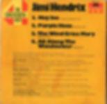 jimi hendrix singles vinyls/ 4 die grossen vier