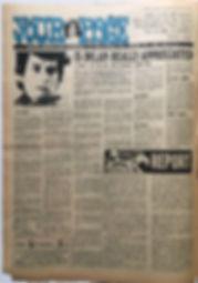 jimi hendrix newspaper 1968/record mirror november 30 1968