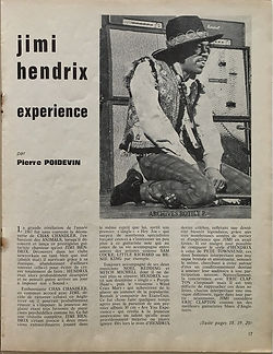 jimi hendrix magazine/hit parade mazgazine/april 1968