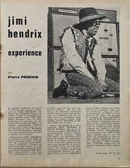 jimi hendrix magazine/hit parade mazgazine/april 1968