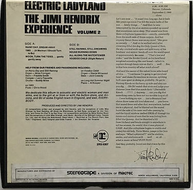 jimi hendrix reel to reel collector/electric ladyland  vol2 reprise 4track