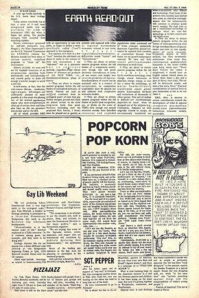 jimi hendrix newspapers 1969/berkeley tribe /november 27-december 5, 1969