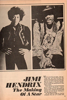 jimi hendrix magazines 1969 /hit parader yearbook 1969 jimi hendrix the making of a star