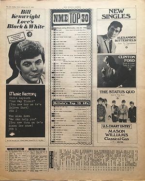 jimi hendrix newspaper/july 27 1968 / majorca and jimi