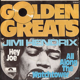 jimi hendrix singles reissue/ 1975 hey joe / golden greats
