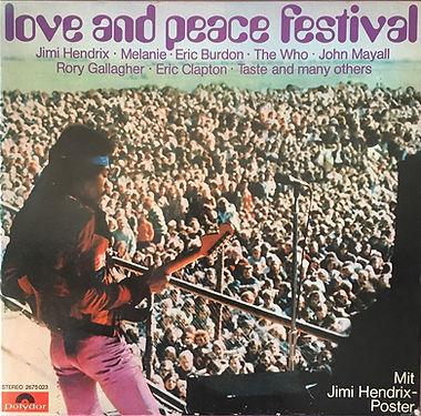 jimi hendrix box vinyls / love and peace festival 3lp germany 1971