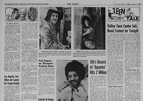 jimi hendrix newspaper 1969/los angeles the image june 27- july 10 1969 /the van nuys news 69