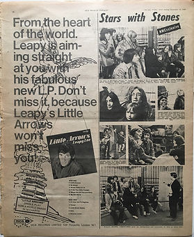 jimi hendrix newspaper 1968/ december 14 1968/ new musical express /mitch michell