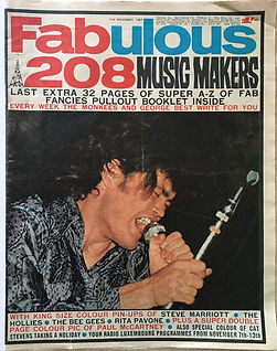 jimi hendrix collctor newspaper/fabulous 208 / 11/11/1967