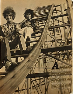 jimi hendrix collector magazine/bravo N°39 september 1967 double page photo