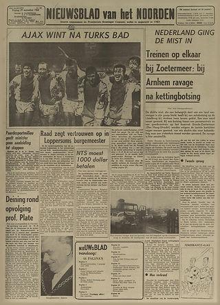 jimi hendrix newspapers 1968/ nieuwsblad van het noorden nov. 29,, 1968