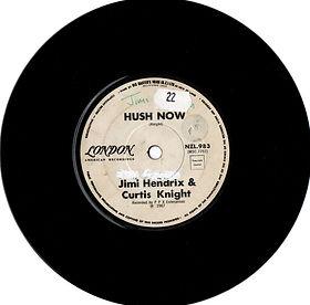 jimi hendrix collector singles vinyls 45t/hush now 1967new zealand